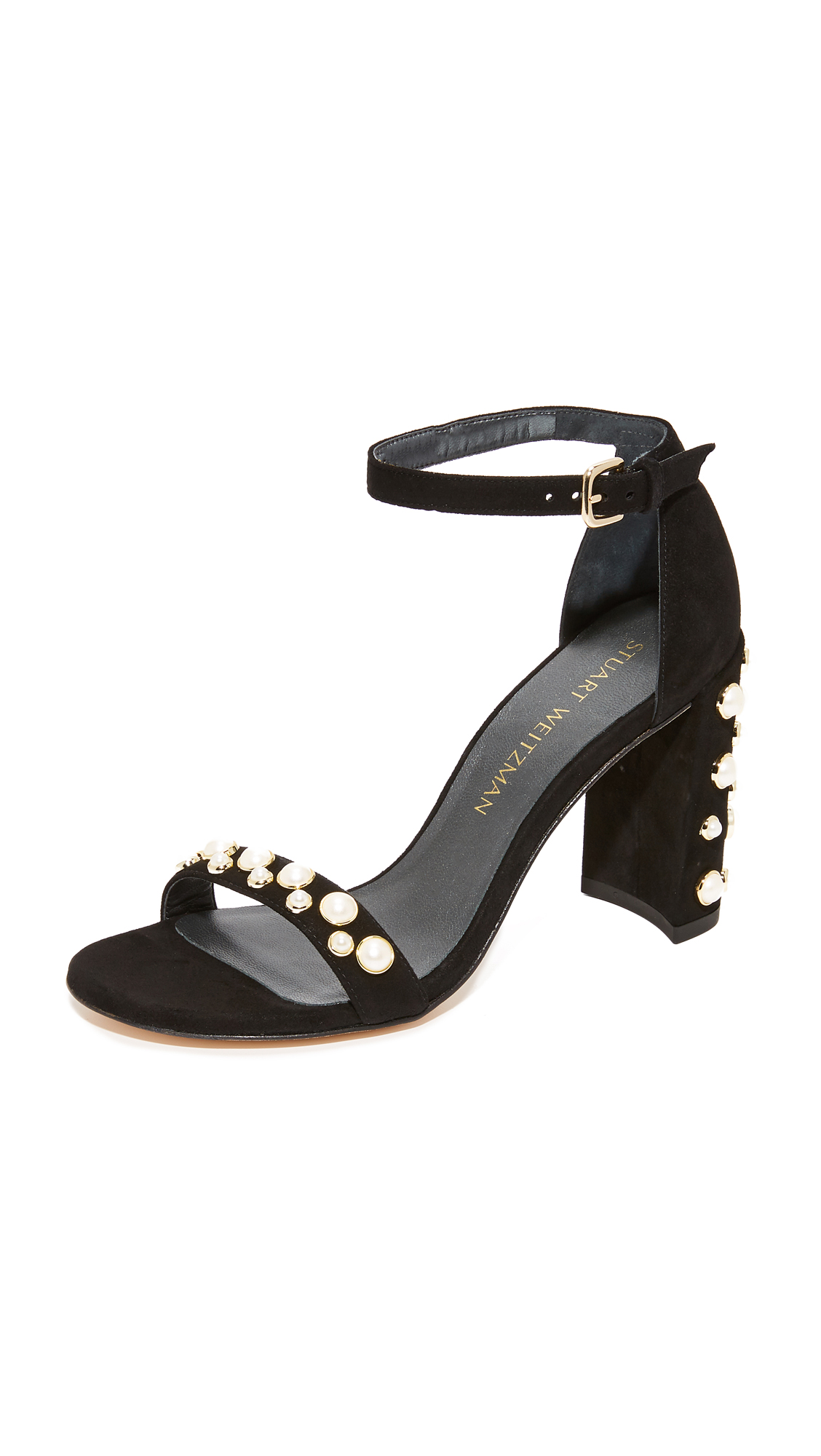 Stuart Weitzman Morepearls Sandals - Black