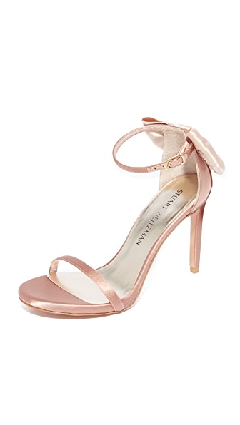 Stuart Weitzman Mybow Sandals - Adobe