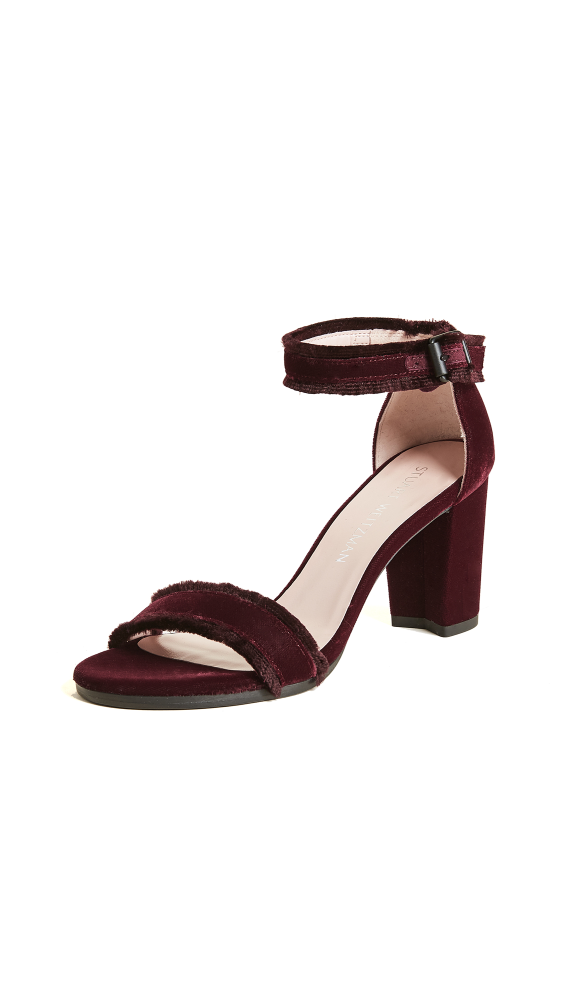 Stuart Weitzman Frayed Sandals - Bordeaux