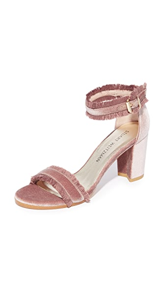 Stuart Weitzman Frayed Sandals - Candy