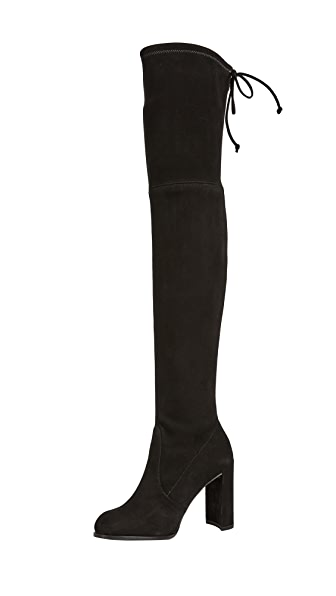 Stuart Weitzman Hiline Over the Knee Boots In Black