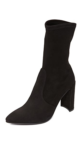 Stuart Weitzman Clinger Stretch Booties - Black