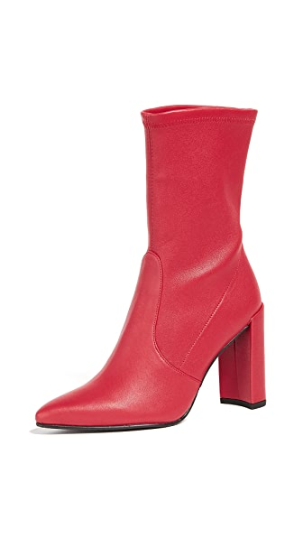 Stuart Weitzman Clinger Stretch Booties - Red