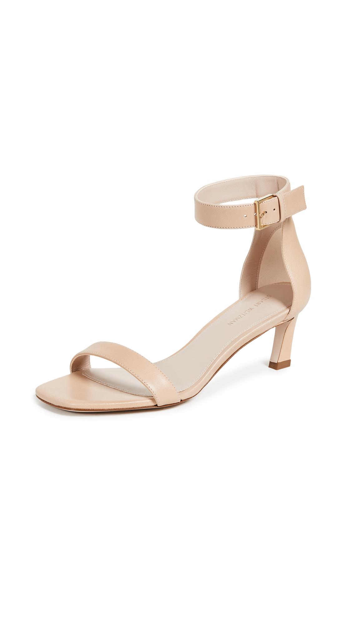 Photo of Stuart Weitzman Square Nudist 45mm Sandals online shoes sales