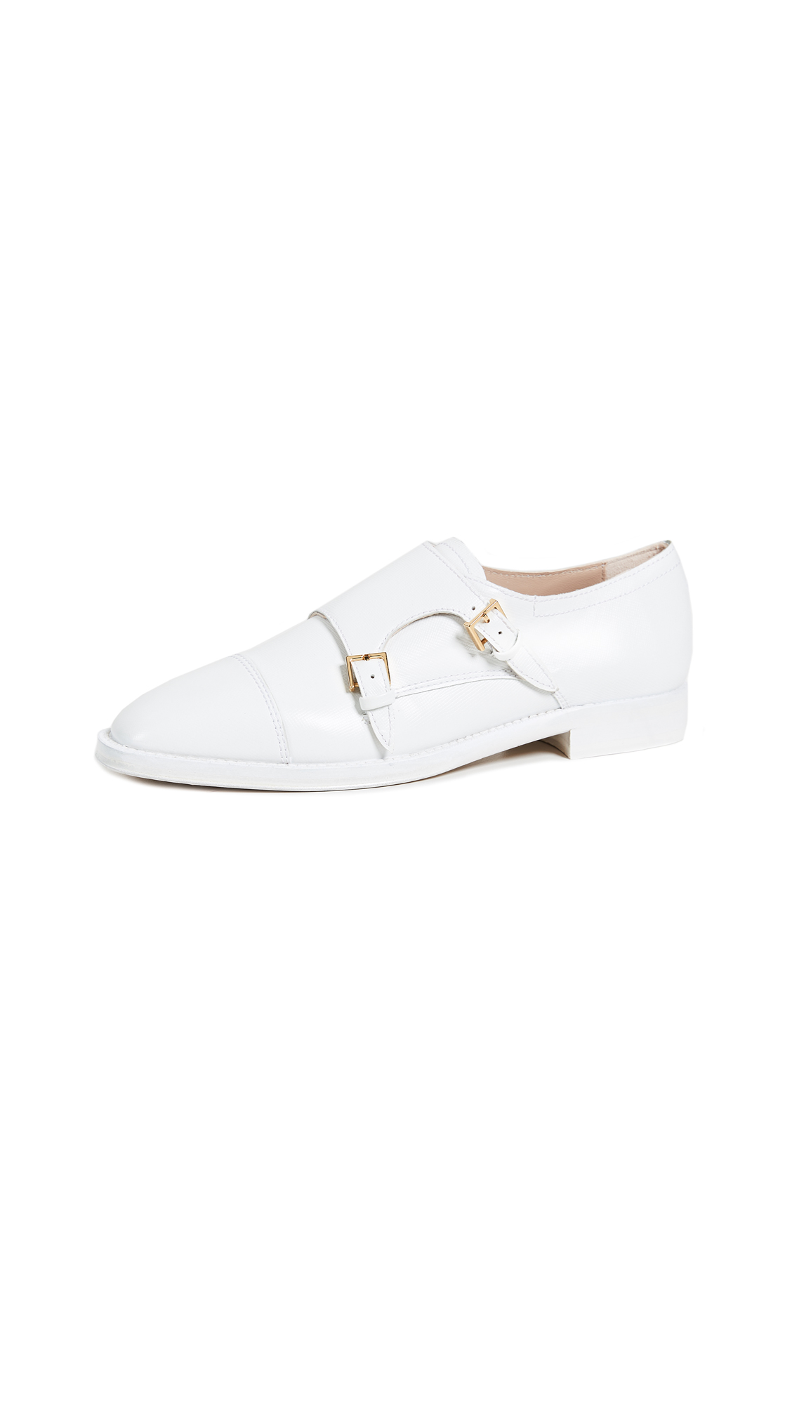 Stuart Weitzman Monk Oxfords - White