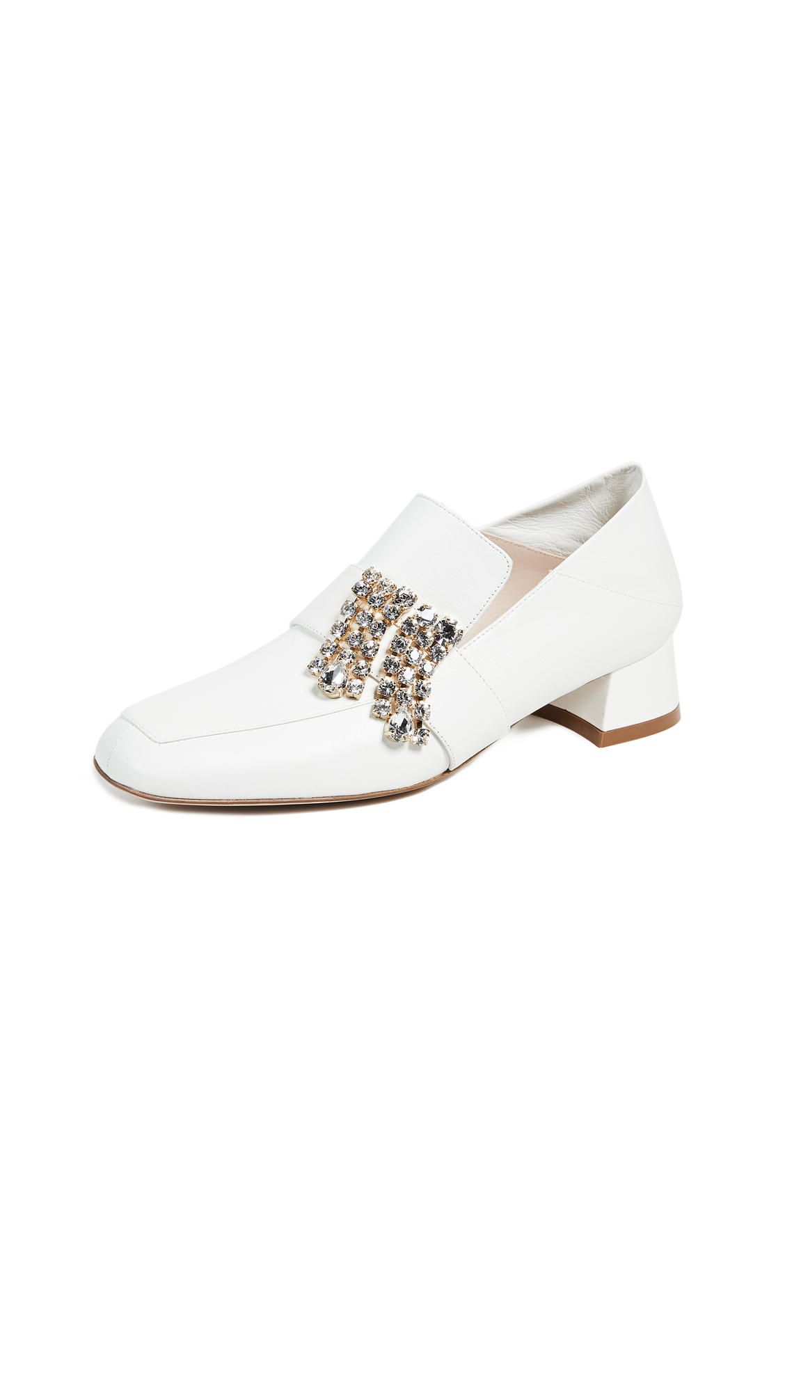 Stuart Weitzman Irises Convertible Loafers - White