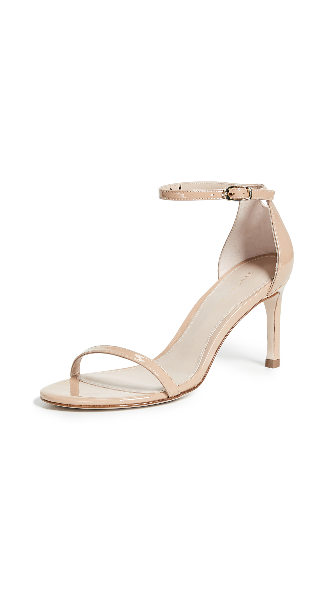 Stuart Weitzman Nudist Traditional 75mm Sandals - Adobe