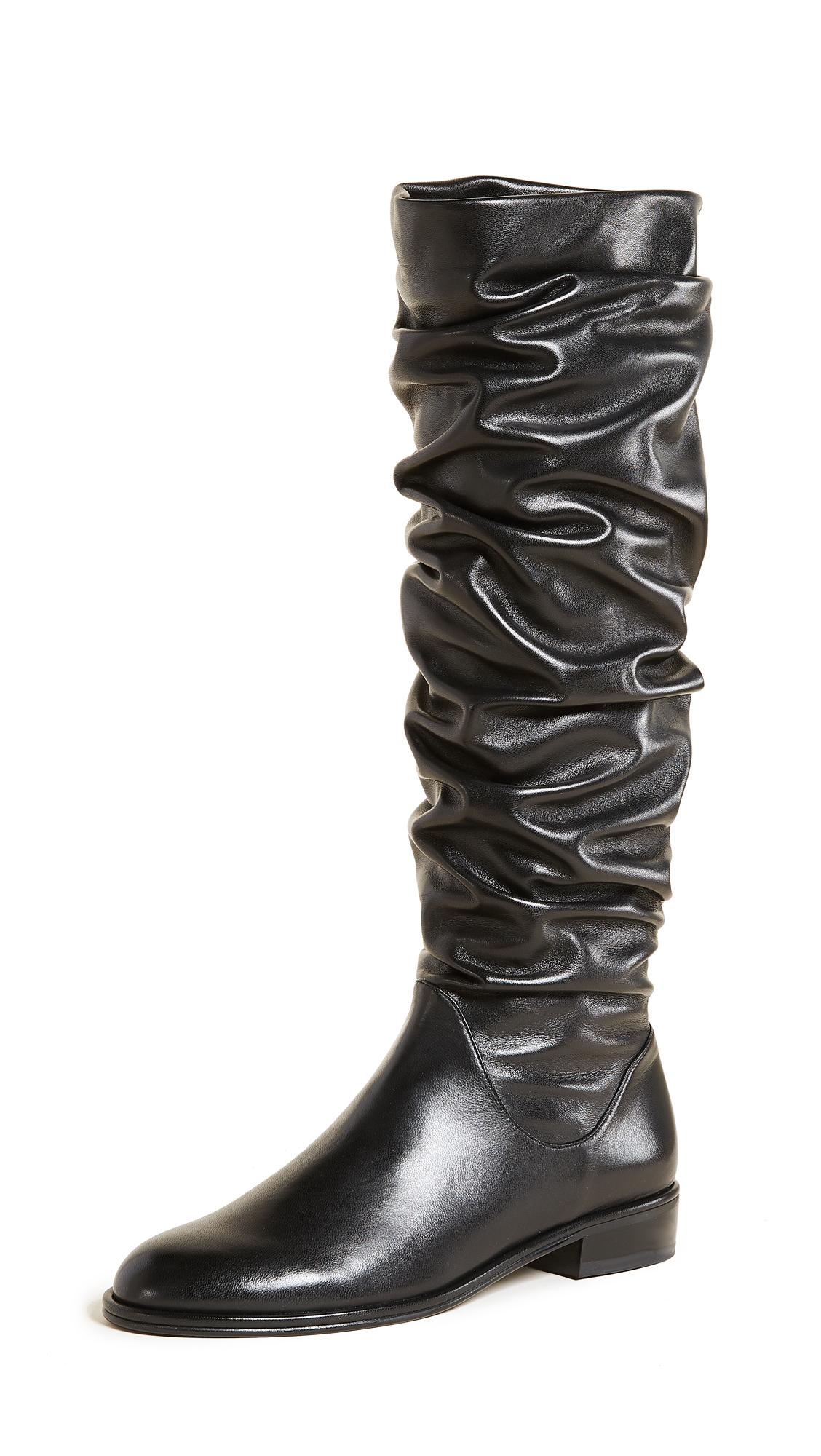 Stuart Weitzman Flatscrunchy Boots - Black