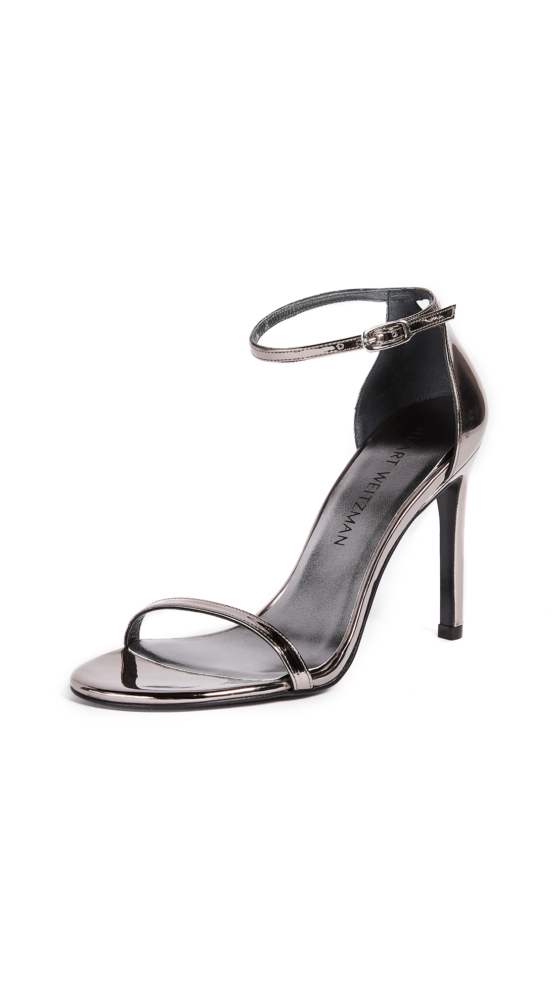 Stuart Weitzman Nudistsong 100mm Sandals - Pewter
