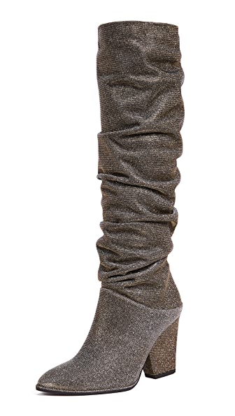 Stuart Weitzman Smashing Knee High Boots In Pyrite