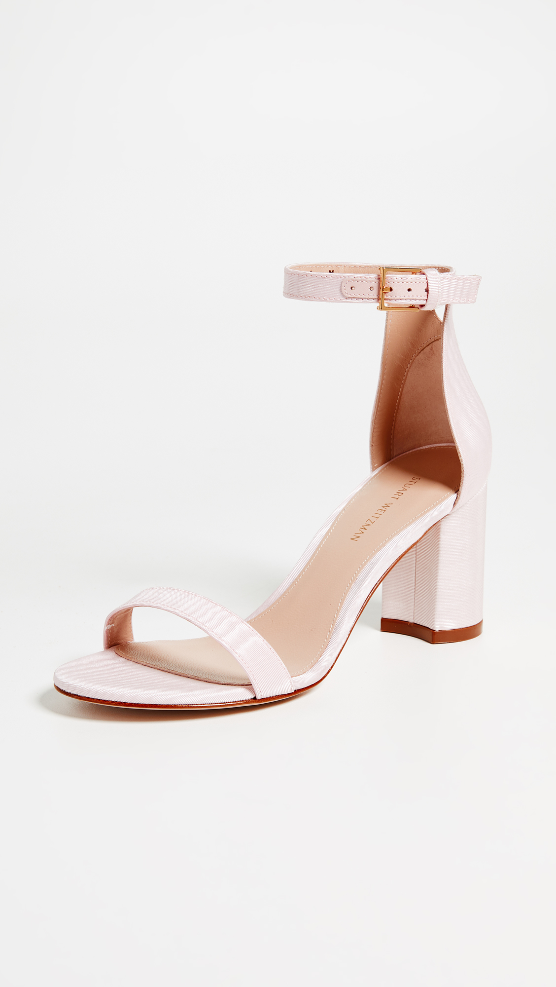 Stuart Weitzman Less Nudist Sandals - Shell Pink