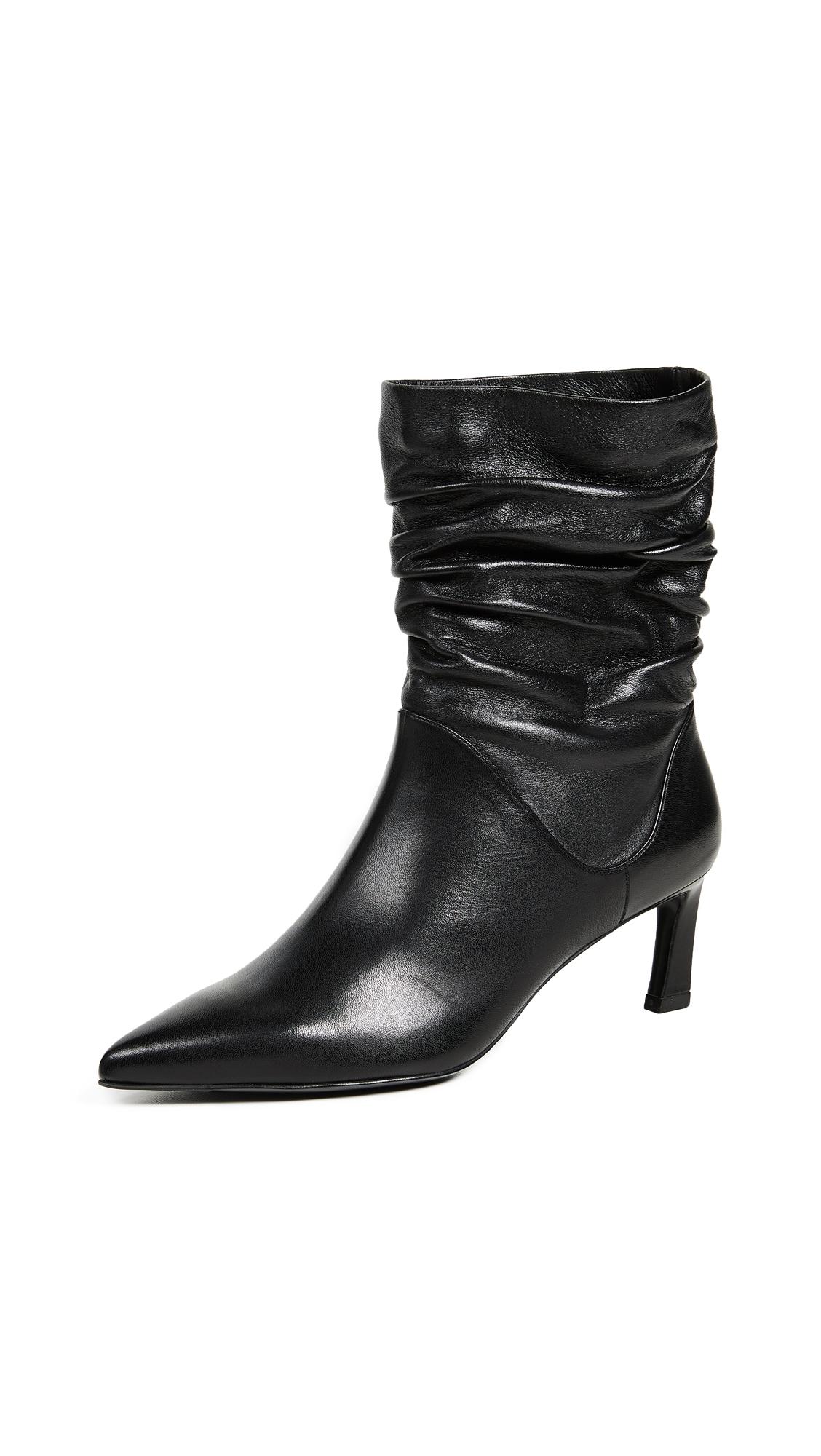 Stuart Weitzman Demibenatar Scrunch Boots - Black