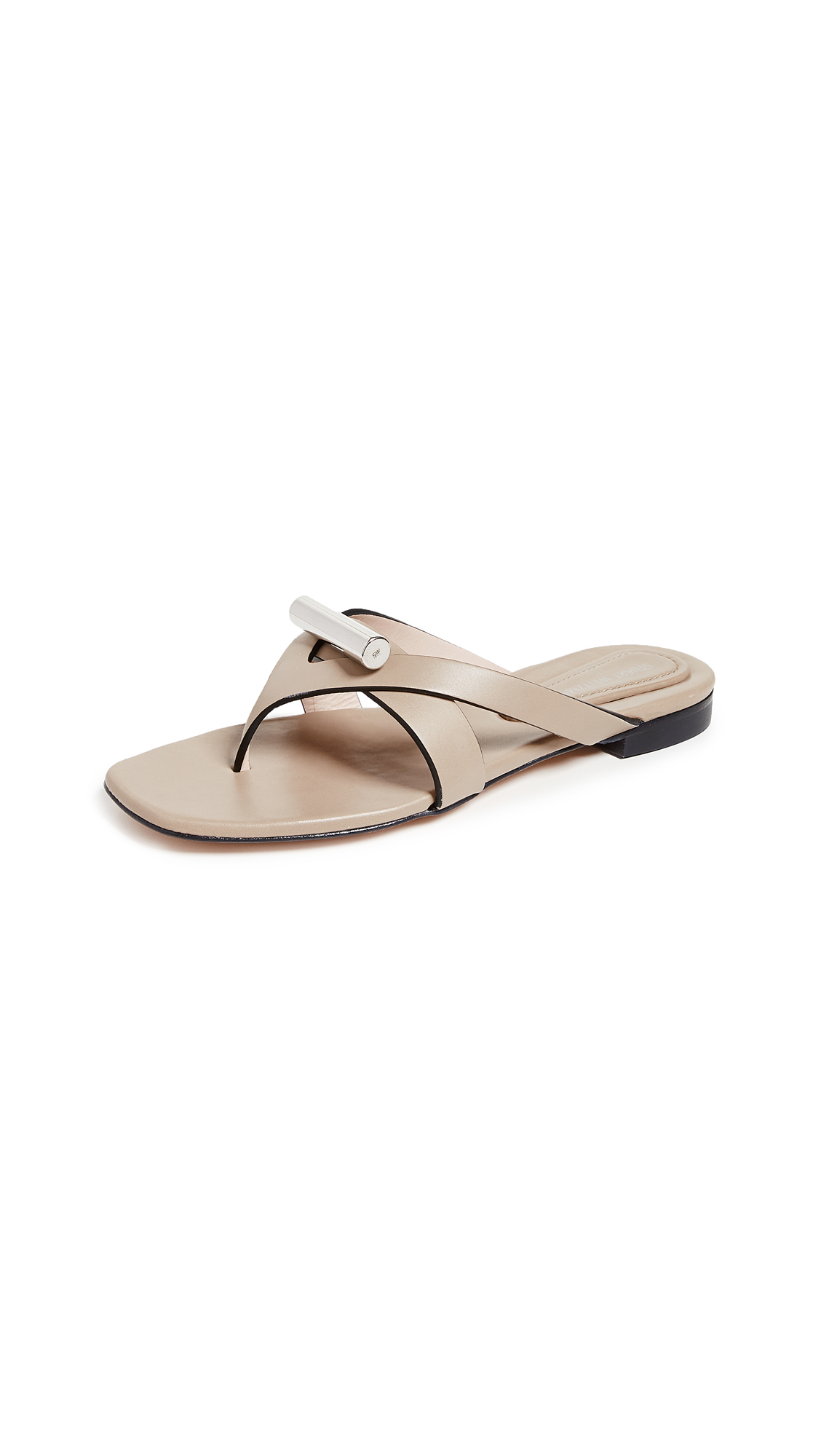 Stuart Weitzman Arro Thong Sandals - Brownstone