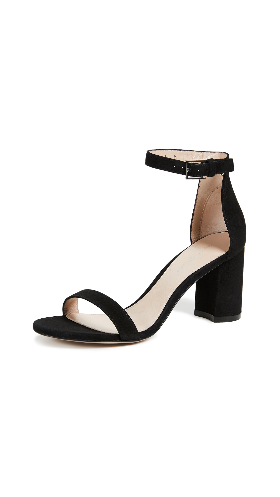 Stuart Weitzman Less Nudist 75mm Sandals - Black