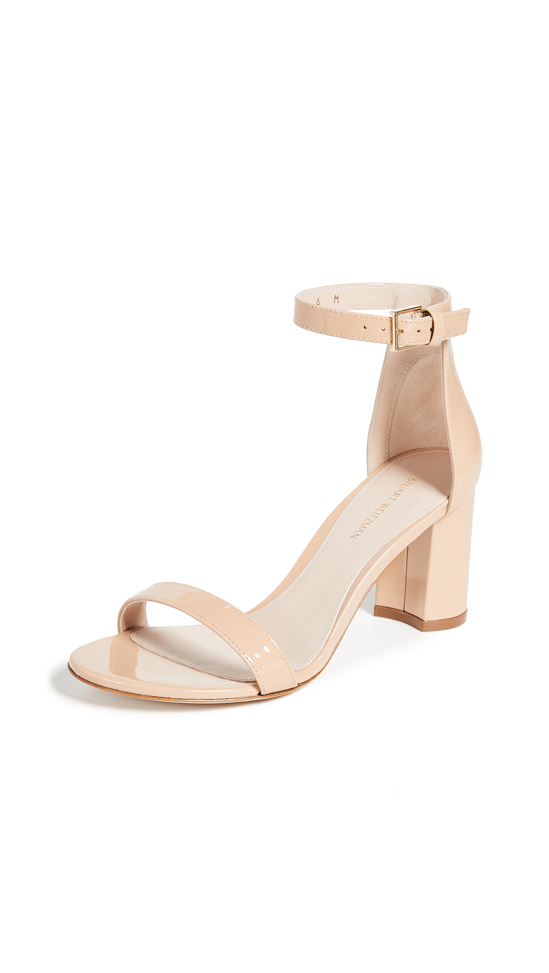 Stuart Weitzman 75mm Less Nudist Sandals - Adobe