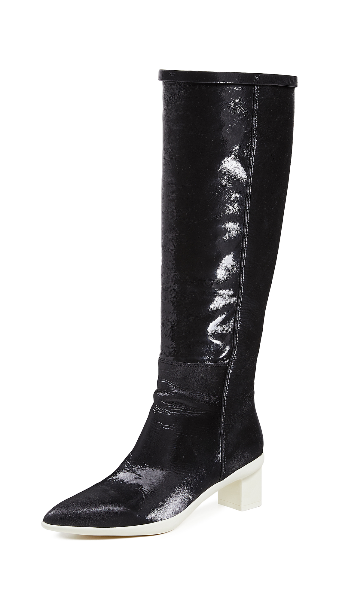 Stuart Weitzman Claude 45mm Boots - Pitch Black