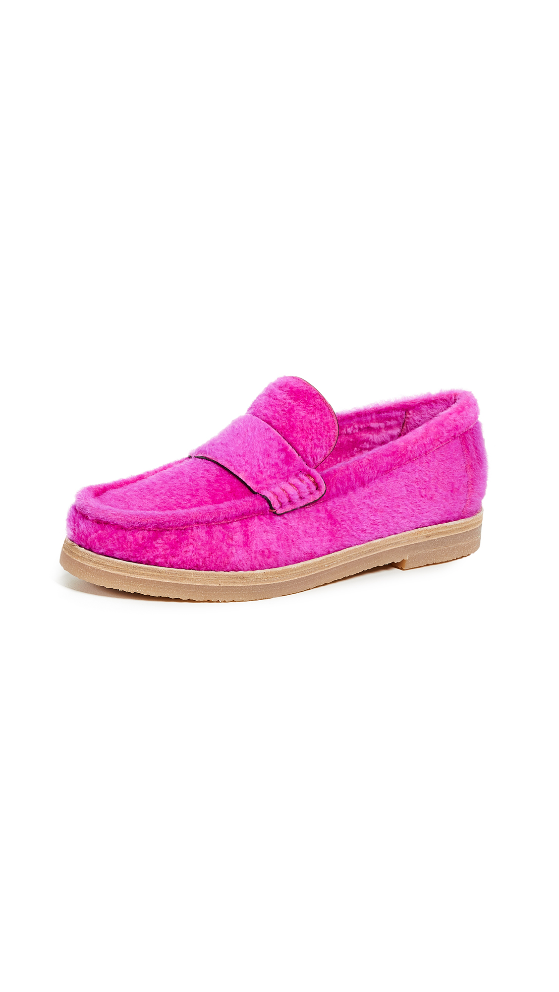 Stuart Weitzman Bromley Loafers - Flamingo