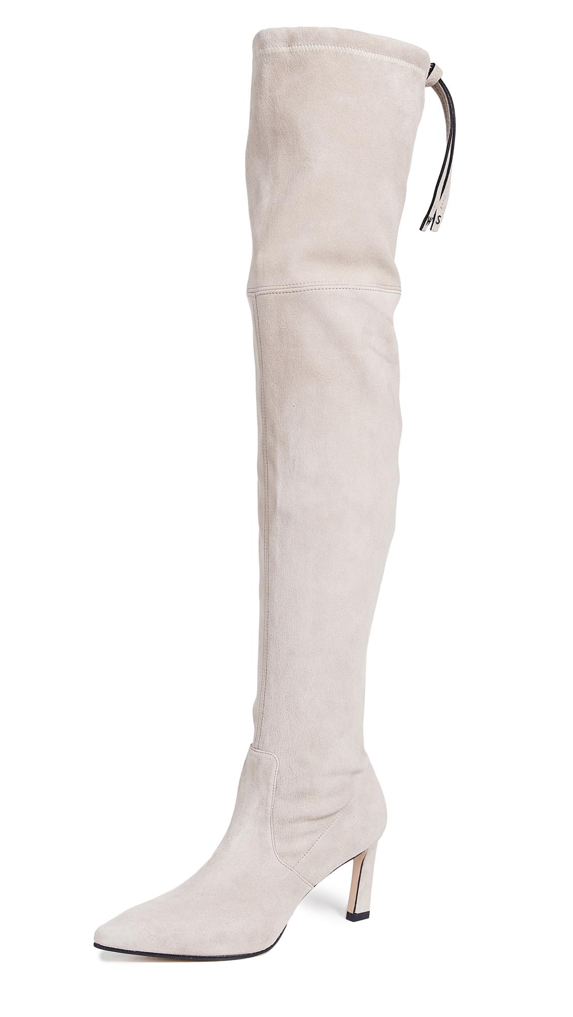 Stuart Weitzman Natalia 75mm Boots - Pebble