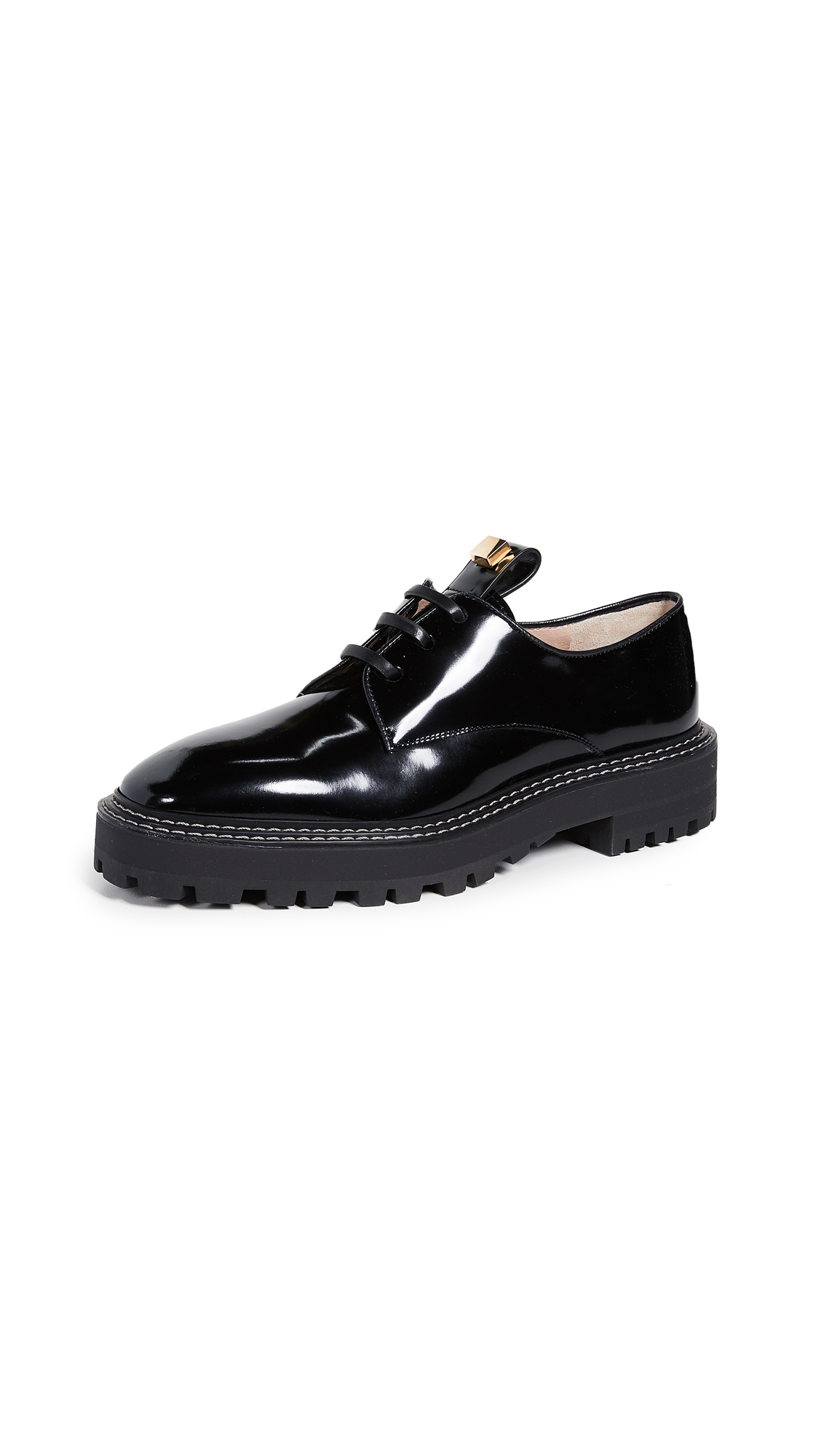 Stuart Weitzman Jesper Oxford Shoes - Pitch Black