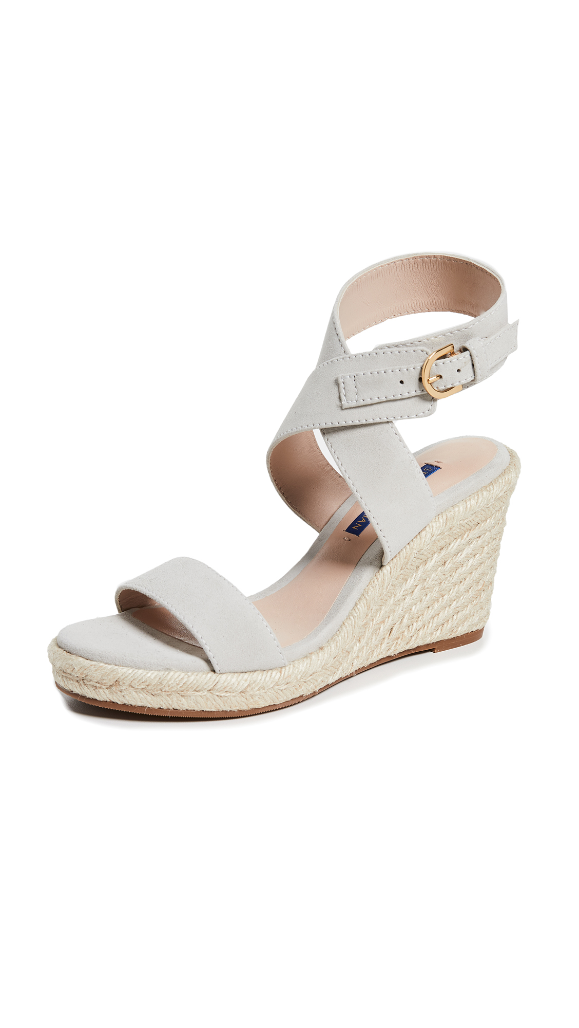 Stuart Weitzman Lexia Wedge Sandals - Seal