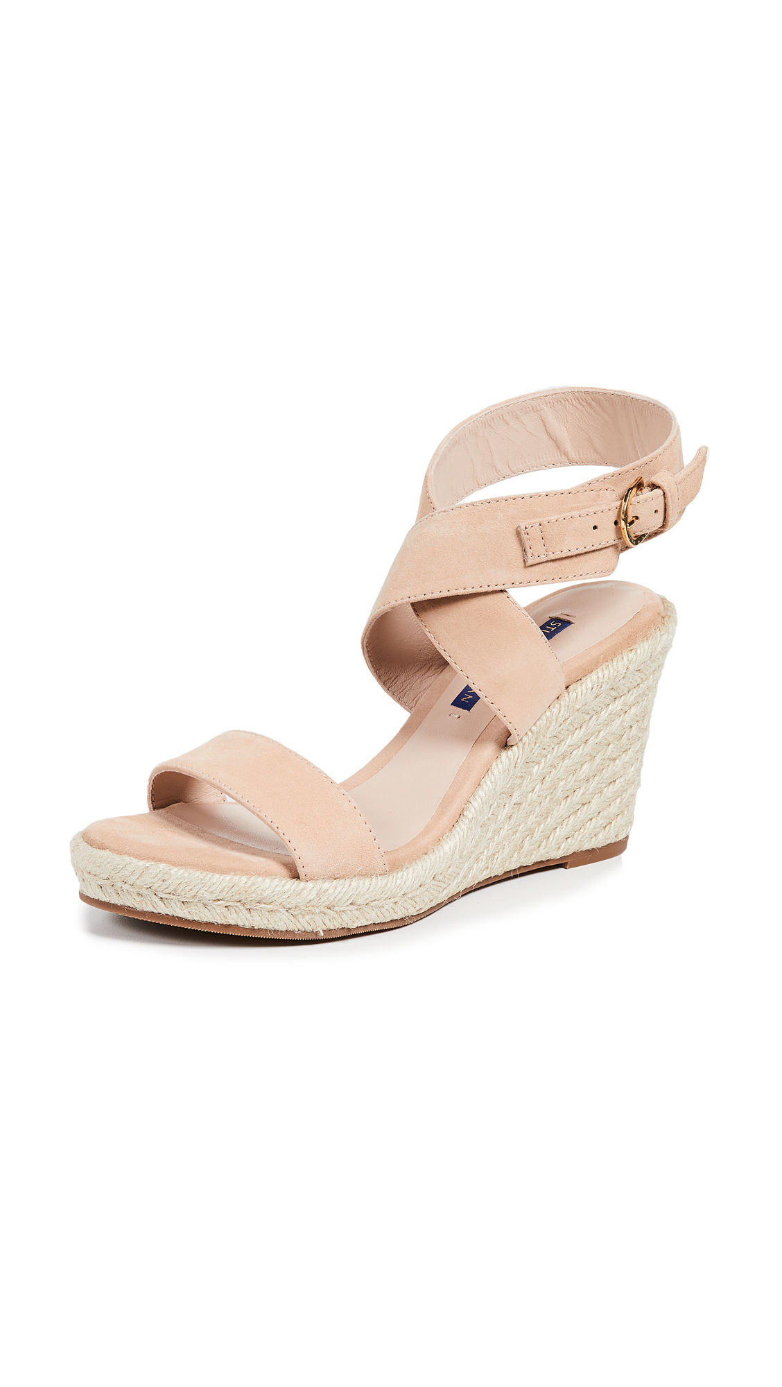 Stuart Weitzman Lexia Wedge Sandals - Adobe