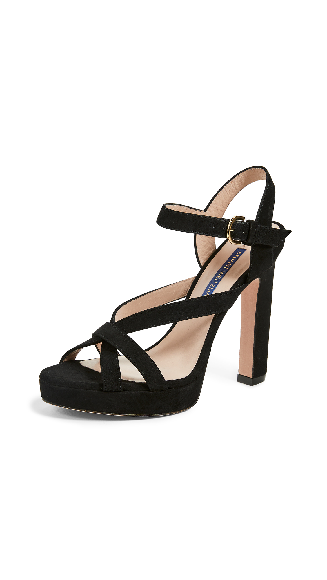 Stuart Weitzman Cersei Platform Sandals - Black