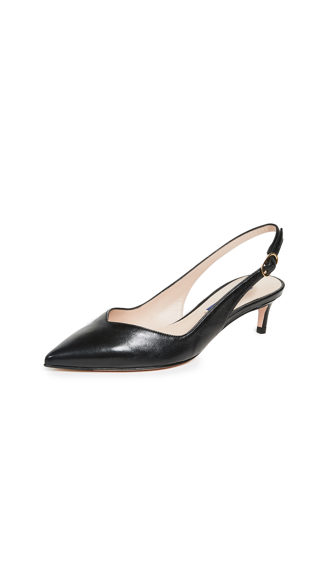 Stuart Weitzman Edith Slingback Pumps - Black