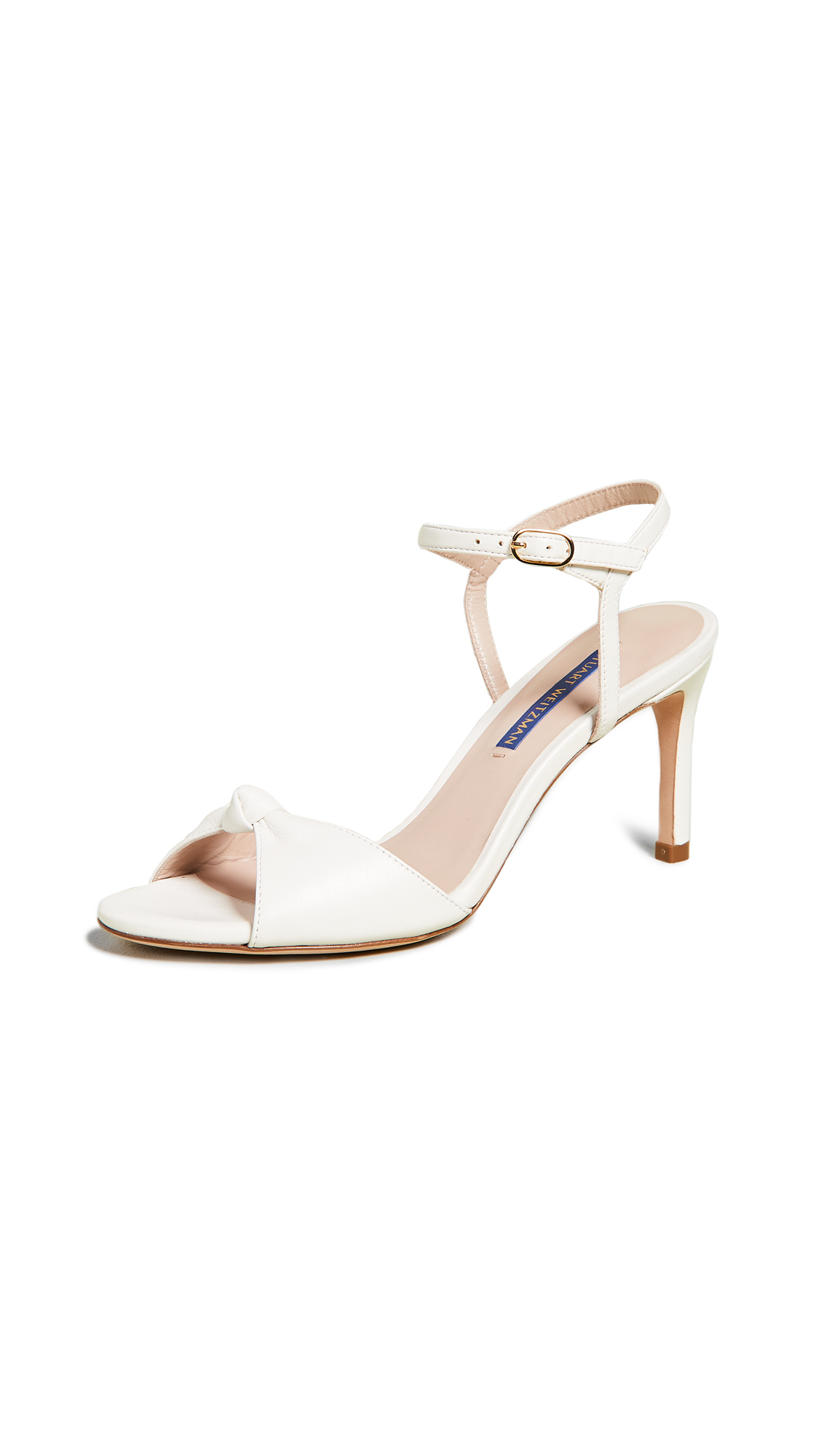 Stuart Weitzman Gloria 80mm Sandals - Cream