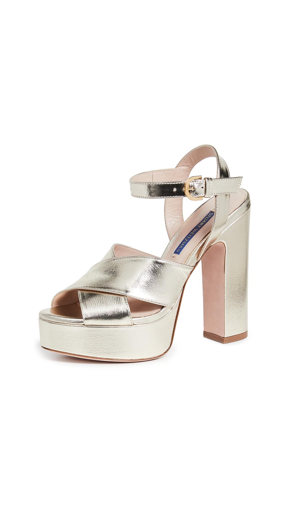 Stuart Weitzman Joni Platform Sandals - Platino