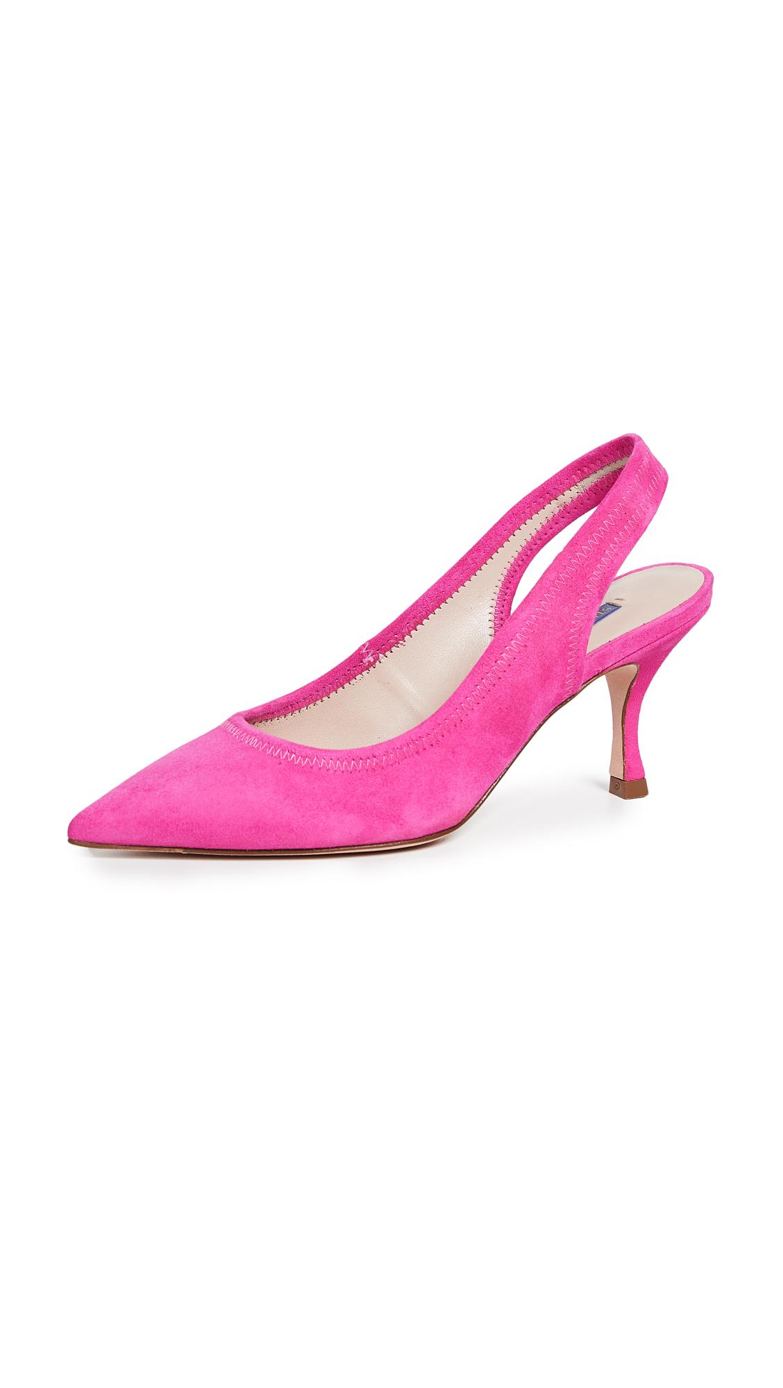 Stuart Weitzman Odette Slingback Pumps - Flamingo