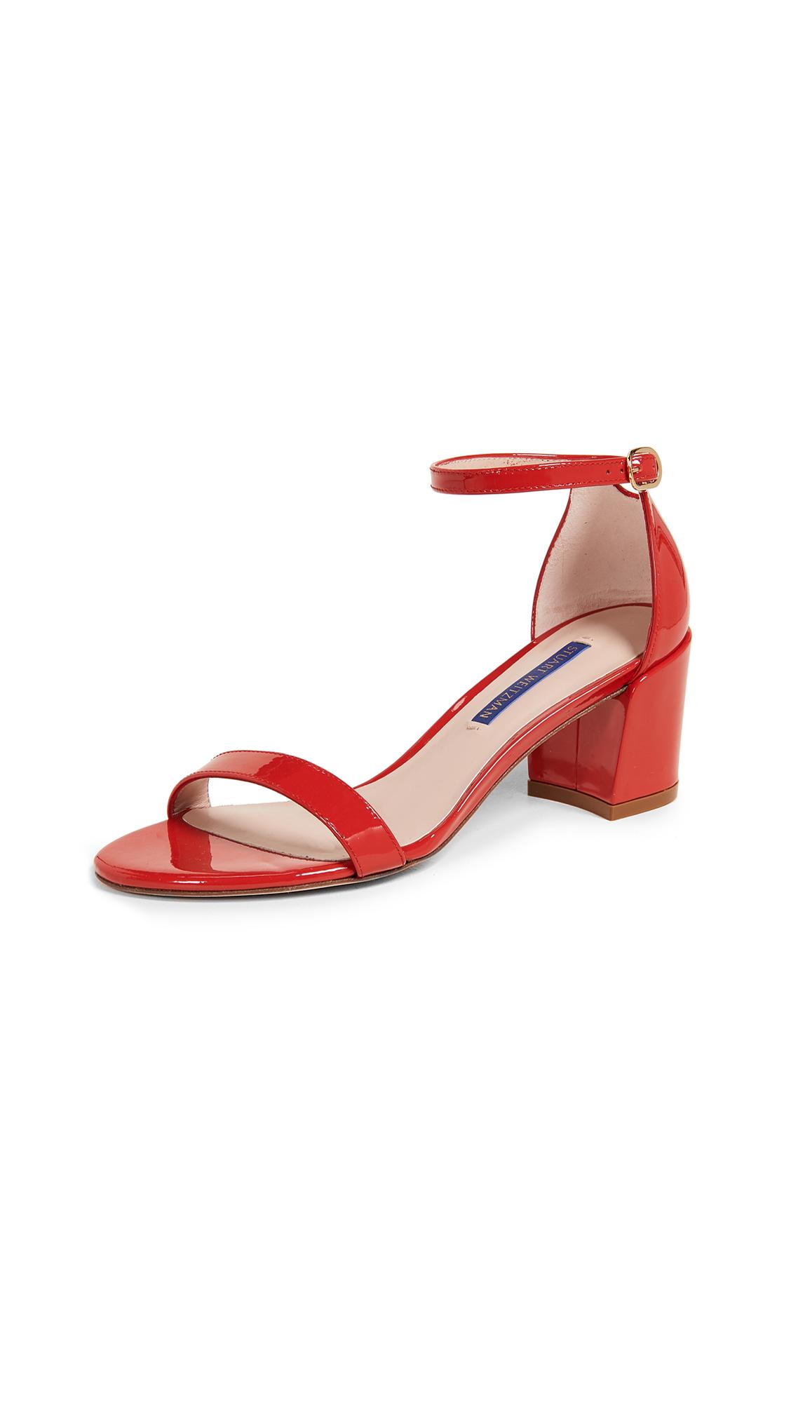 Stuart Weitzman Simple Sandals - Follow Me Red
