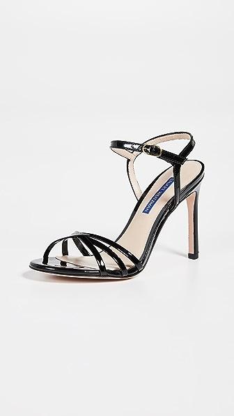 Starla Patent Leather Sandals in Black