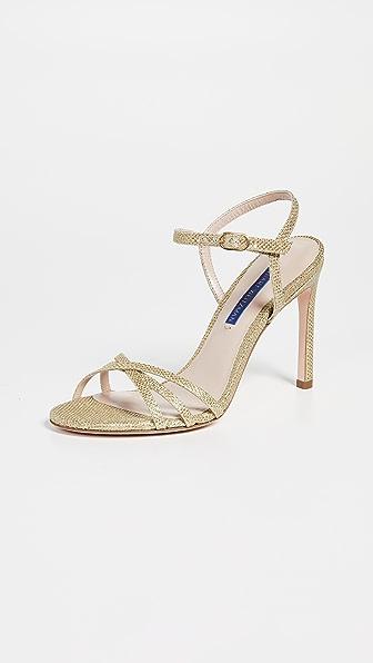 Women'S Starla Metallic High-Heel Sandals in Gold