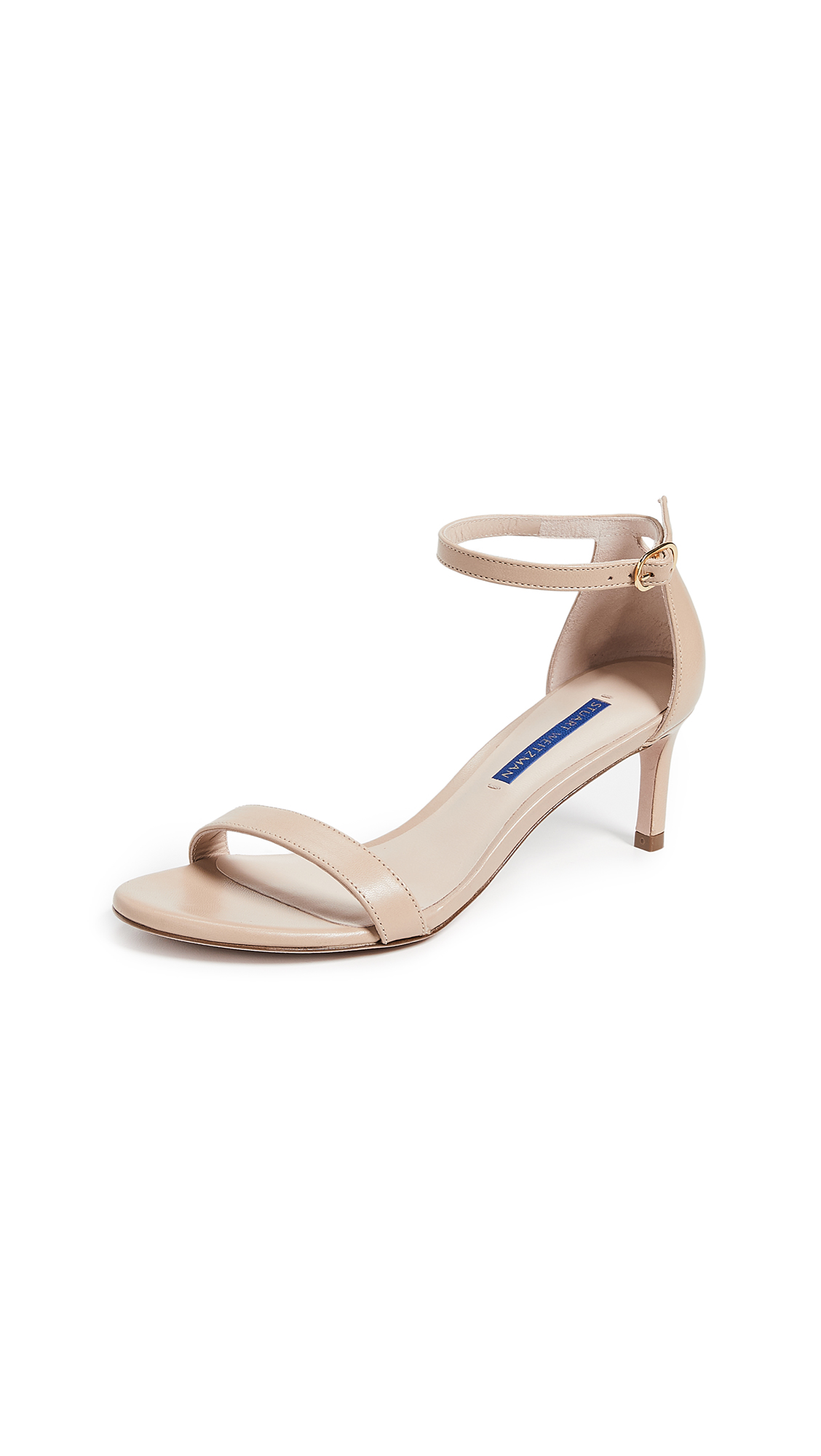 Stuart Weitzman Nunakedstraight 60mm Sandals - Adobe