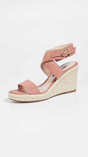 Stuart Weitzman Lexia Suede Wedge Sandals In Pink