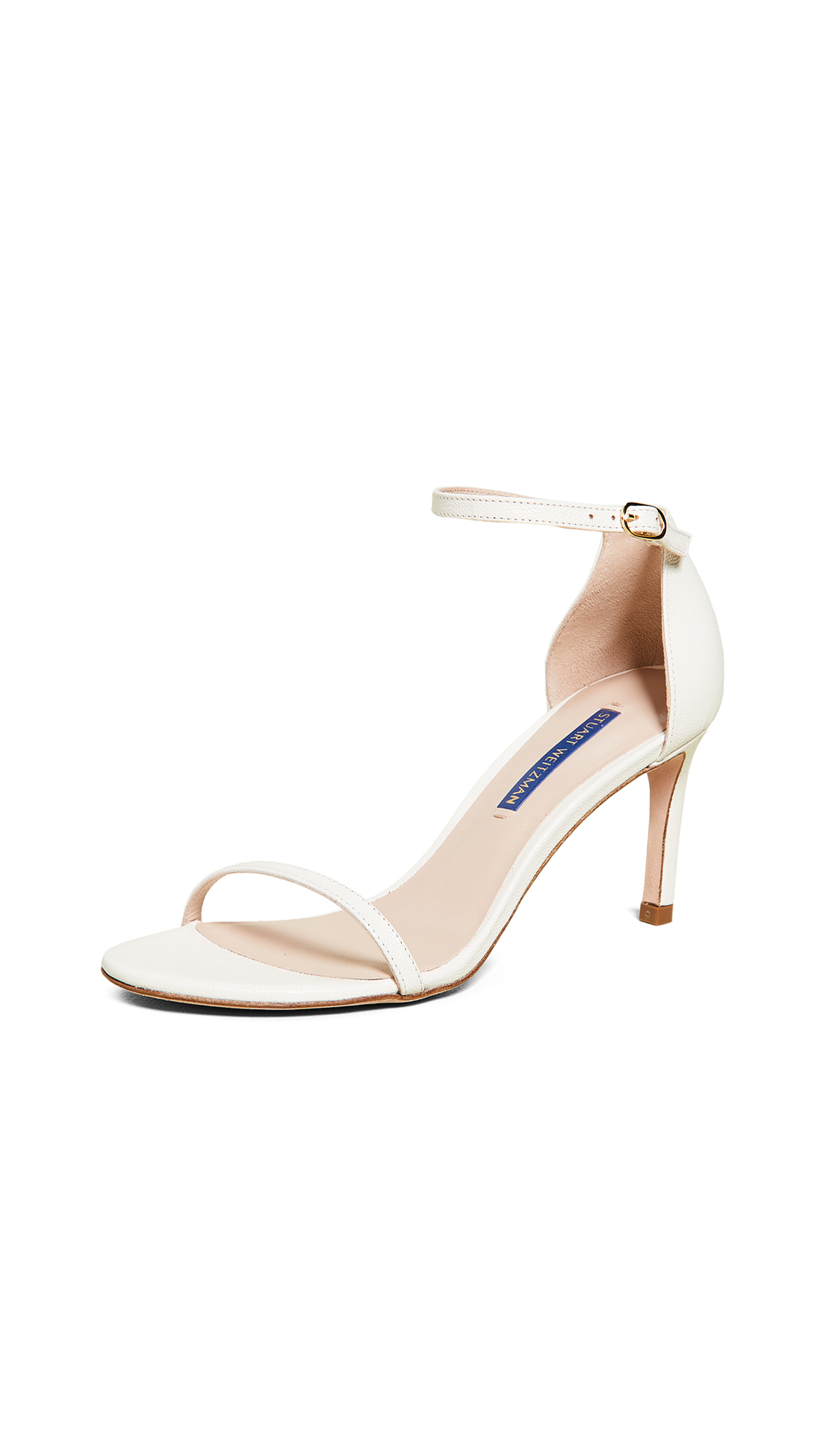 Stuart Weitzman Nudist 80mm Sandals - Cream