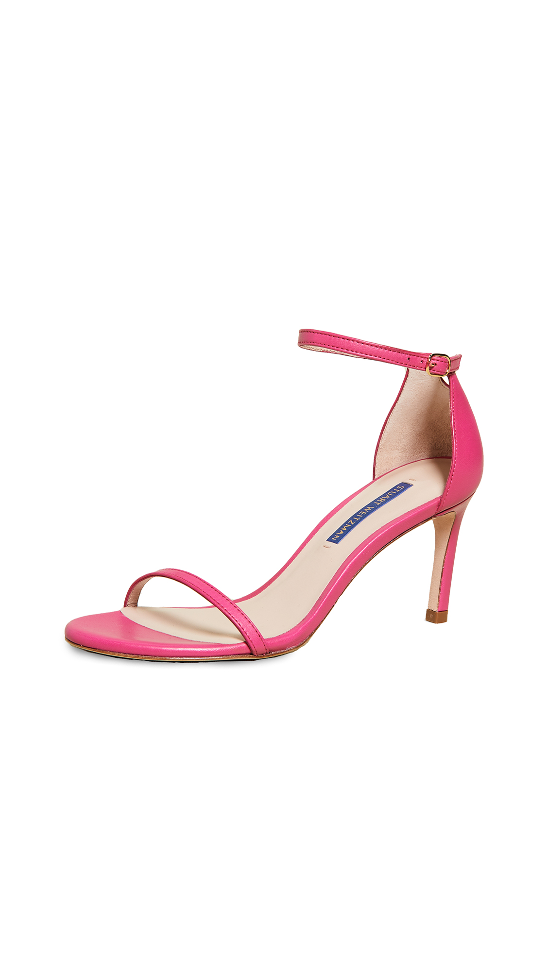 Stuart Weitzman Nudist 80mm Sandals - Flamingo