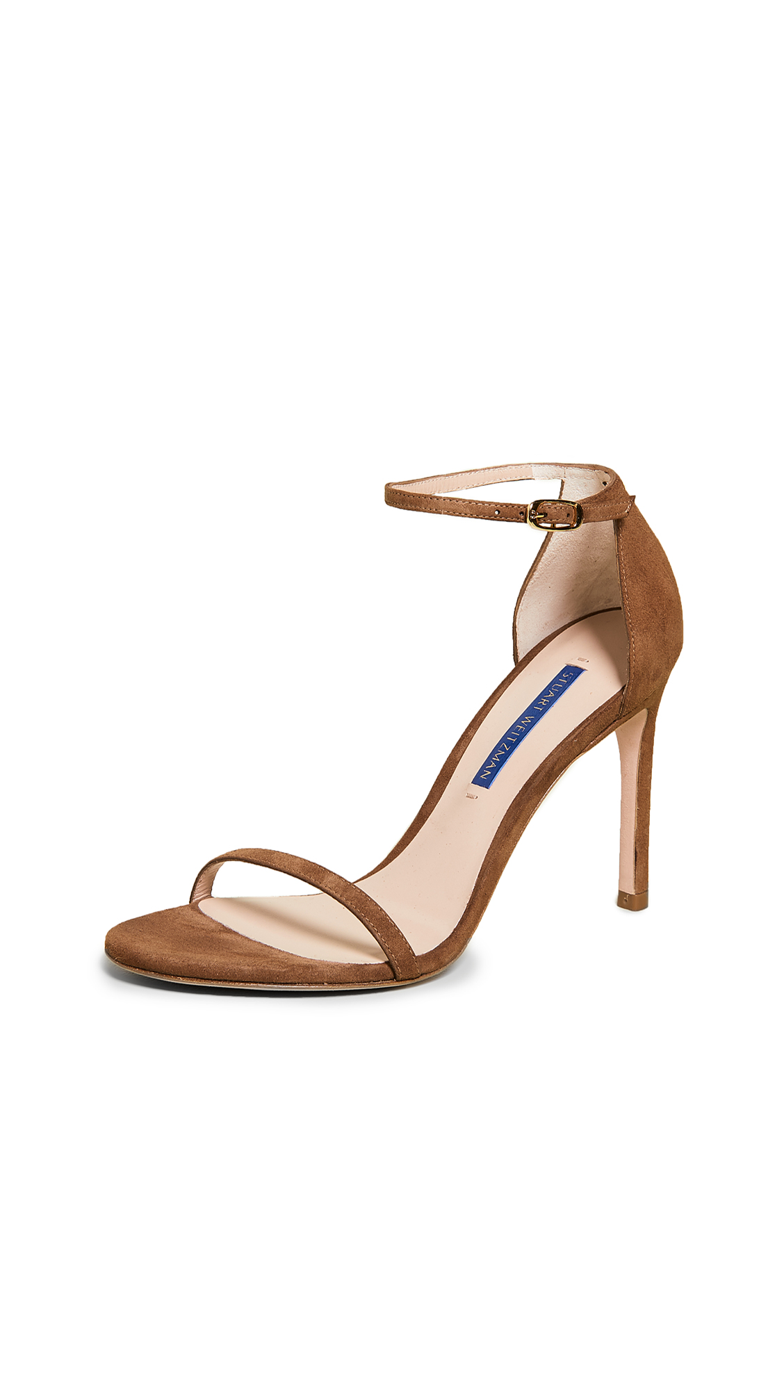 Stuart Weitzman Nudistsong Sandals - Basket Brown