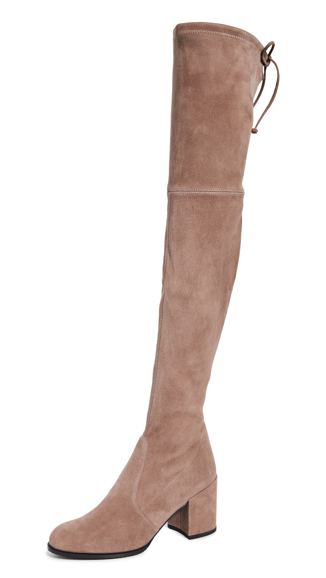 Stuart Weitzman Tieland Over the Knee Boots - Taupe