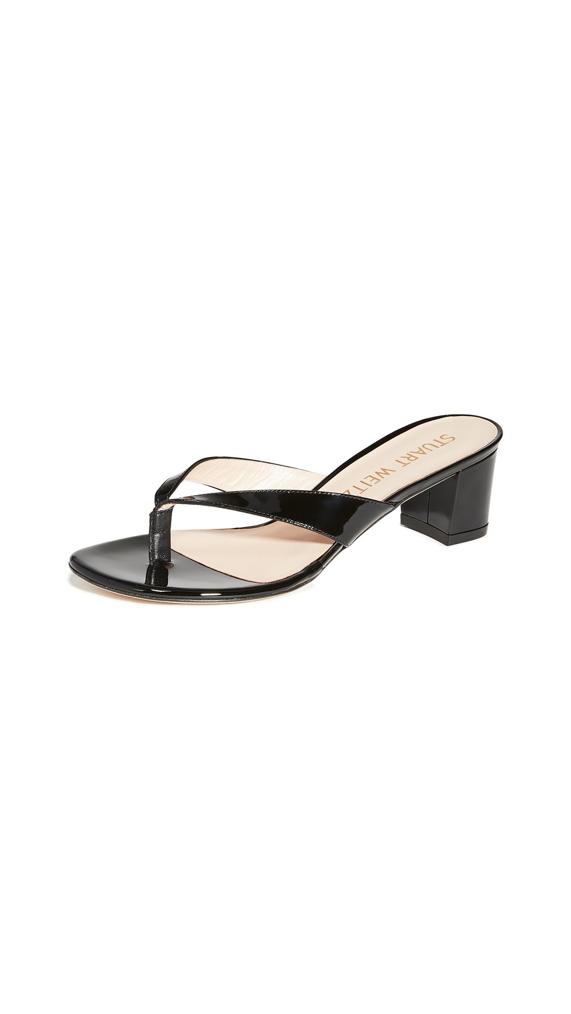 Stuart Weitzman Brigida 50mm Sandals - Black