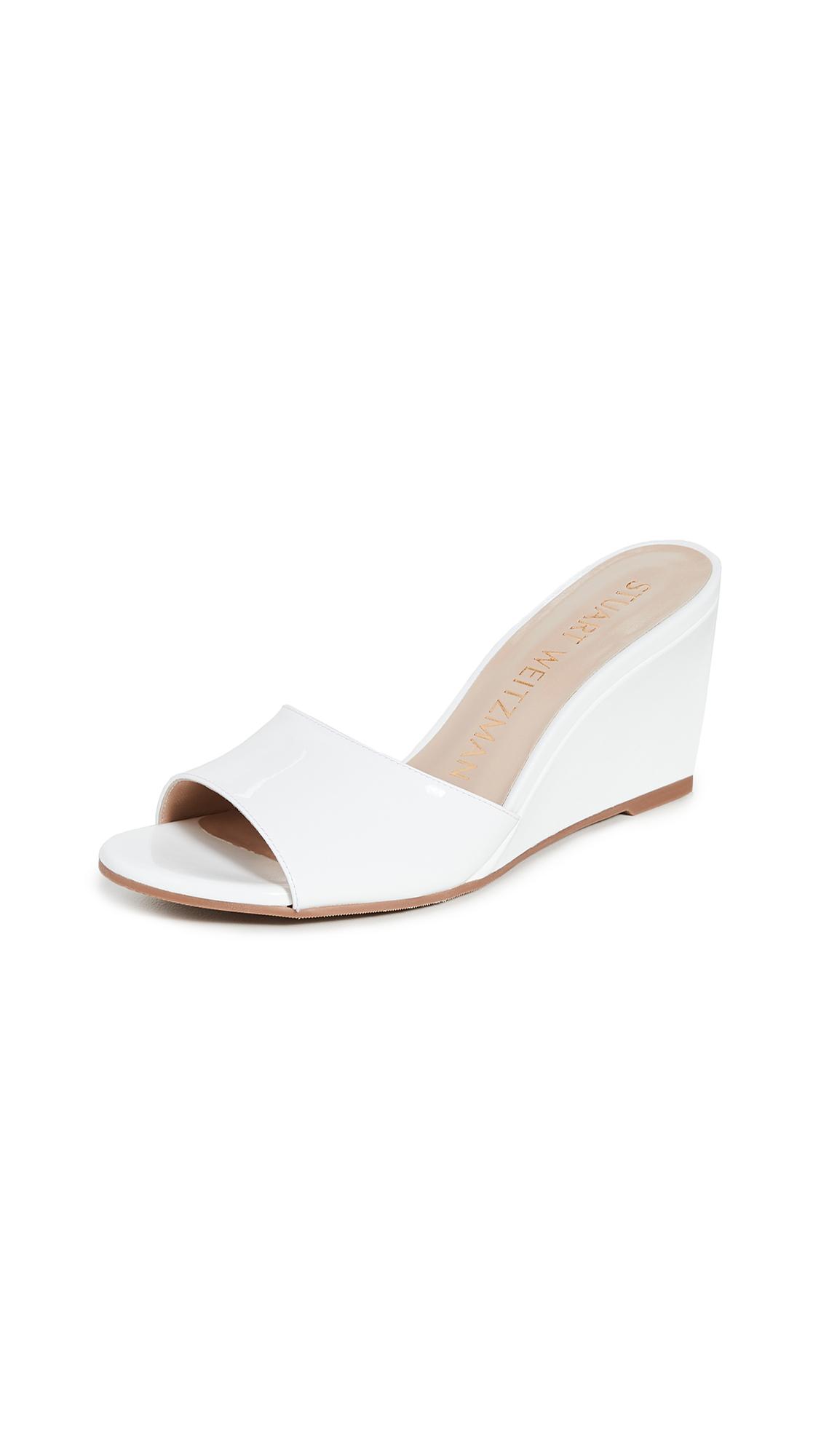 Stuart Weitzman Larunda Wedge Sandals - White