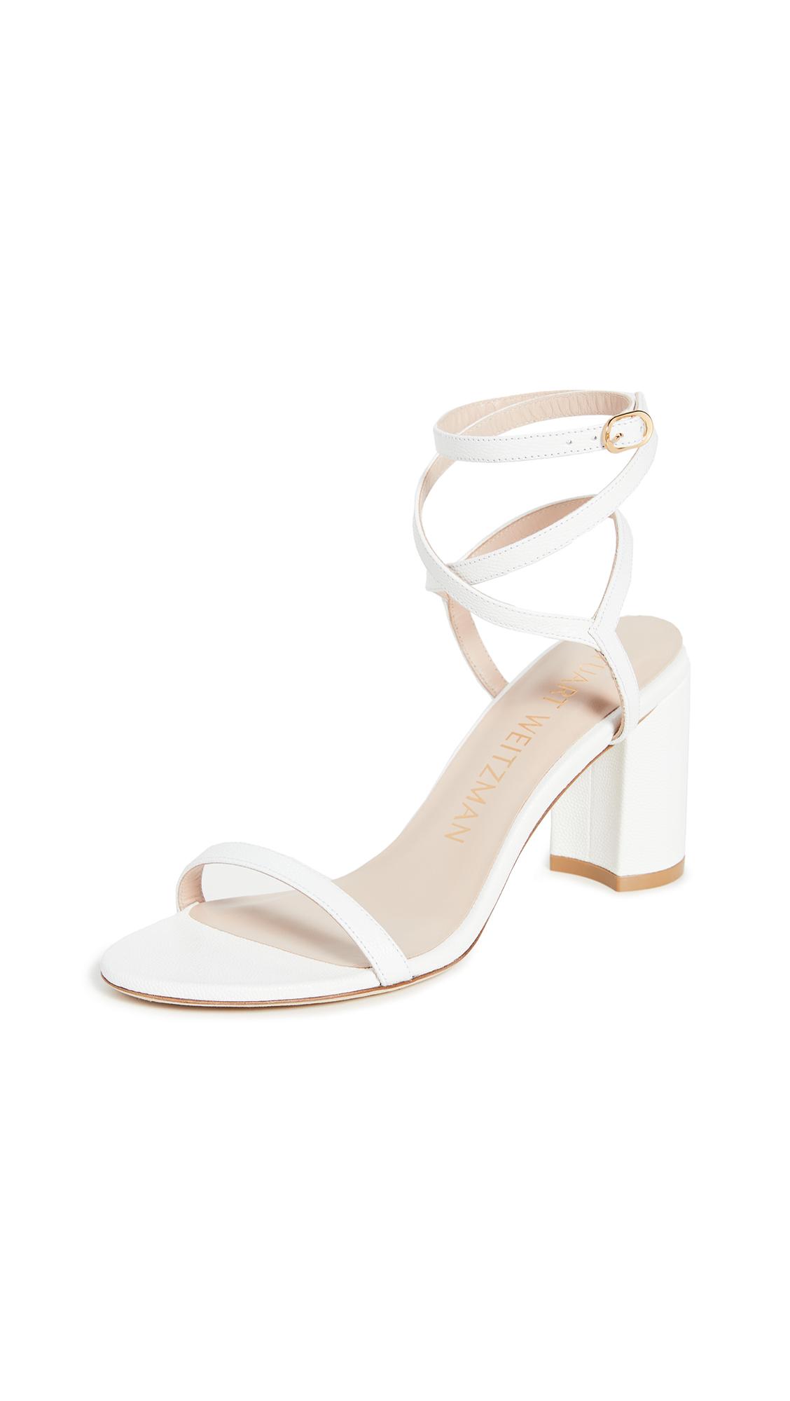 Stuart Weitzman Merinda Block Sandals - White