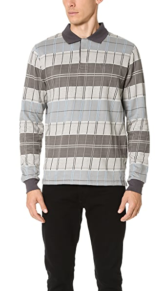 Stussy Plaid Long Sleeve Polo Shirt