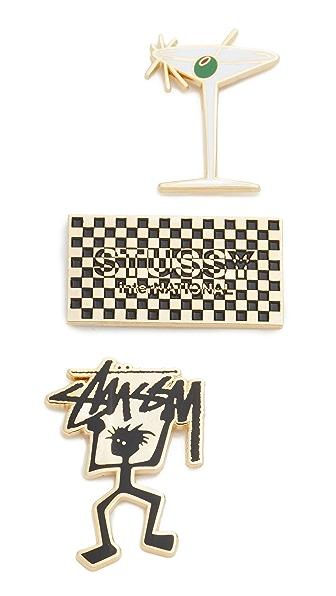 Stussy Stussy Pin Set