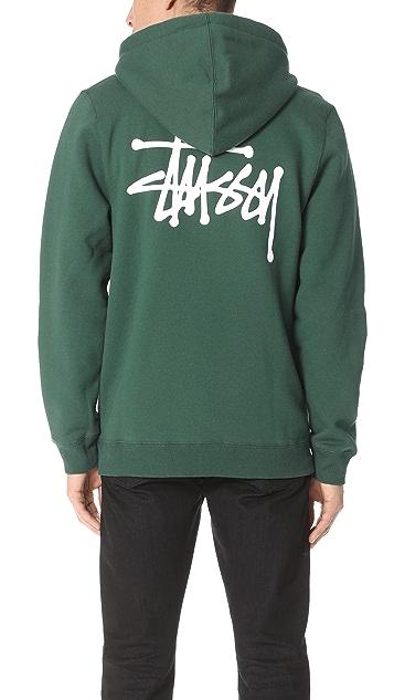 Stussy Stock Logo Zip Hoodie