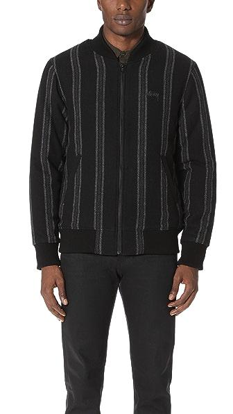 Stussy Wool Stripe Bomber Jacket