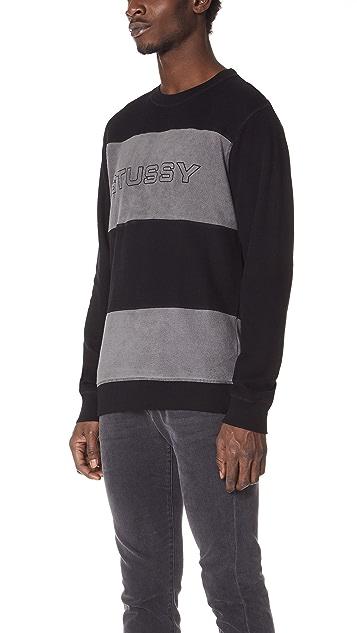 Stussy Paneled Long Sleeve Crew Sweatshirt