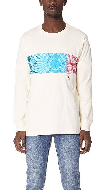 Stussy Tie Dye Block Long Sleeve Shirt