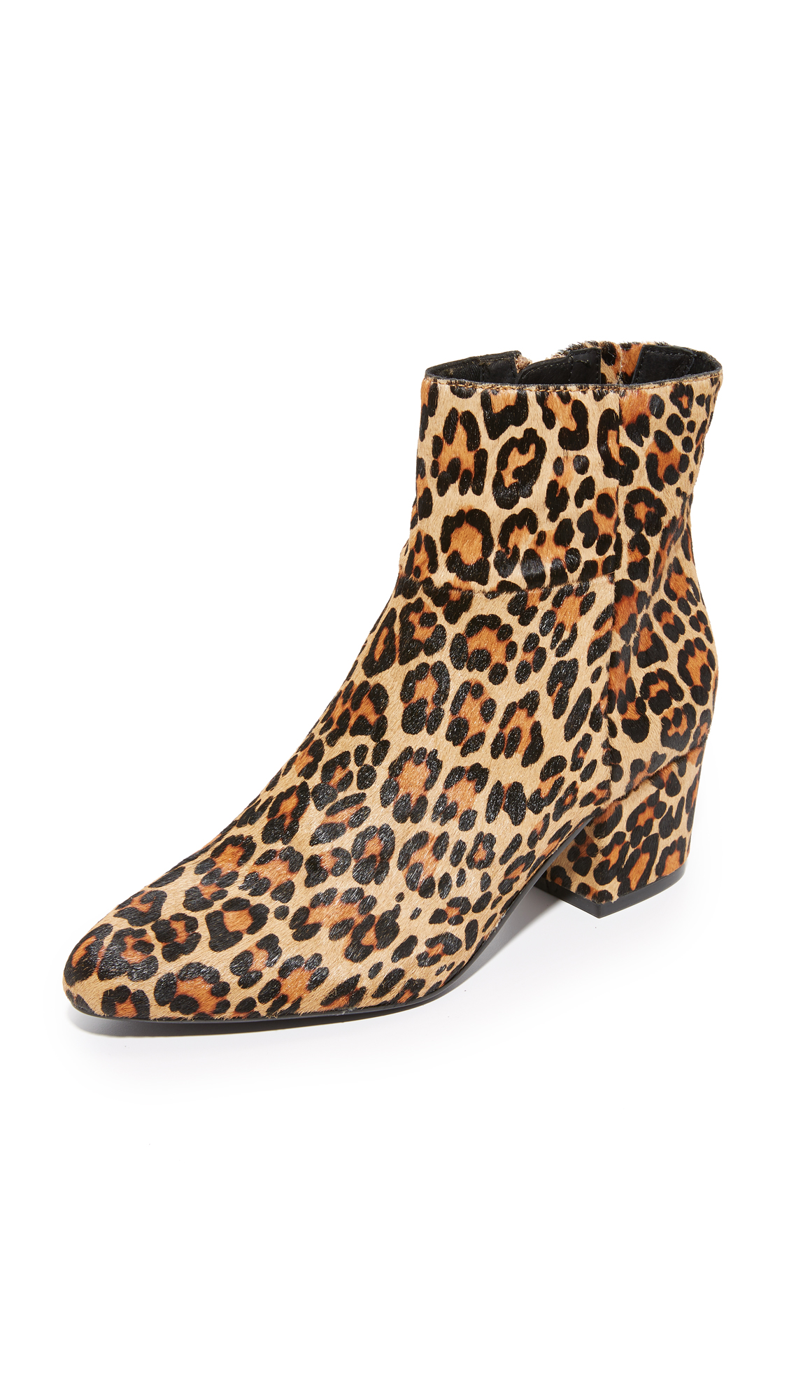 Steven Wes Haircalf Booties - Leopard