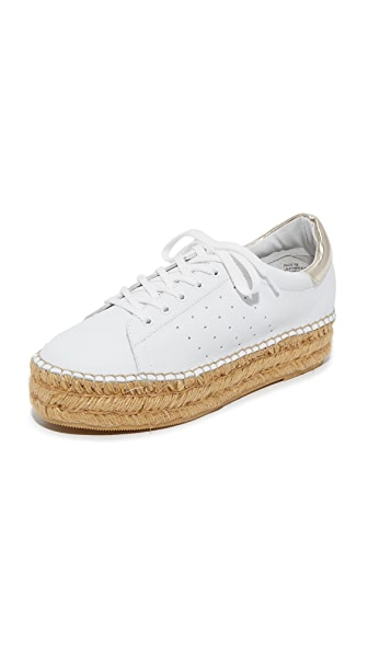 Steven Pace Espadrille Platform Sneakers - White/Gold